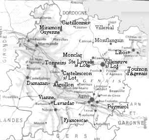 Bastides in Gascony